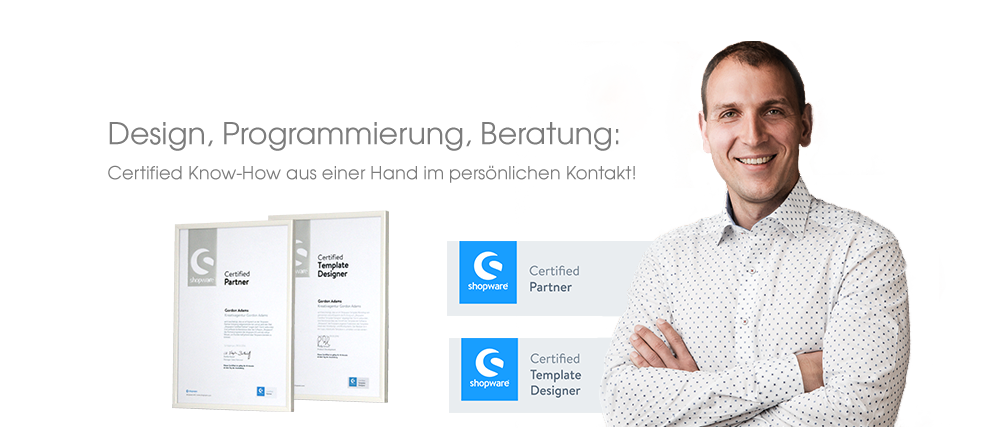 Certiefied Shopware Partner und Shopware Template Designer