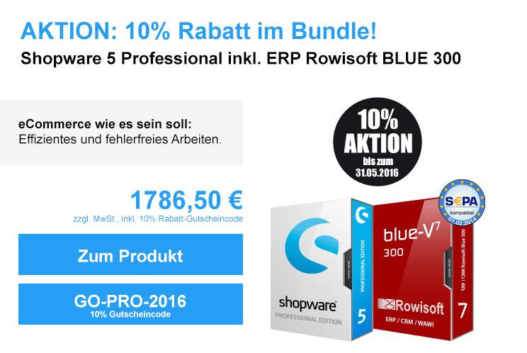 Aktion: Shopware Pro und Rowisoft BLUE