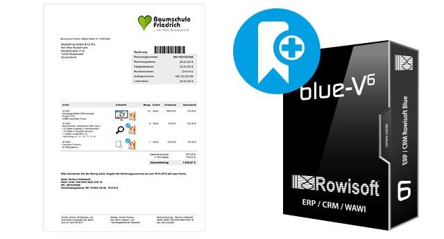 Druckvorlagen mit Artikelbild und Barcodescanner für Rowisoft BLUE (Handel B2C)