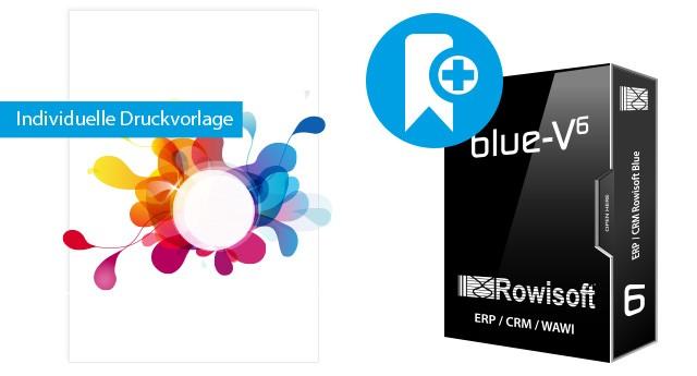 Individuelle Druckvorlagen für Rowisoft BLUE inkl. Konzeption (Rechnung, Angebot, ...)
