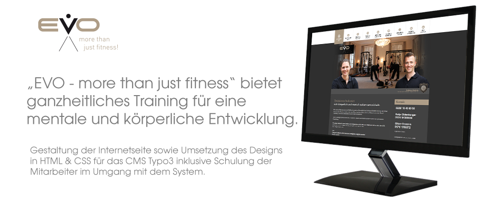 Referenz Typo3: EVO Personal Training
